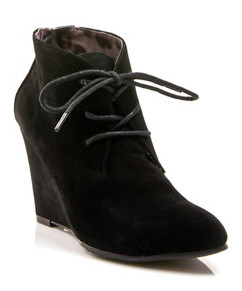 Black Lola Ankle Wedge Boot