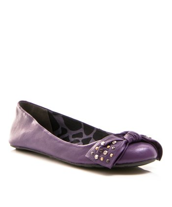 Purple Leather Play Ballet Flat