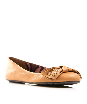 Tan Leather Play Ballet Flat