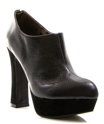Black Leather Riva Bootie