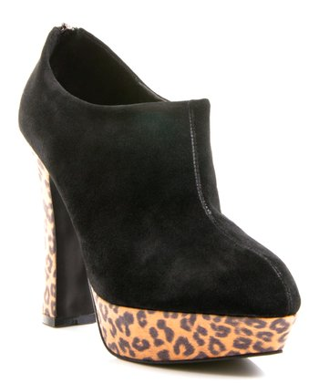 Black Suede Riva Ankle Boot