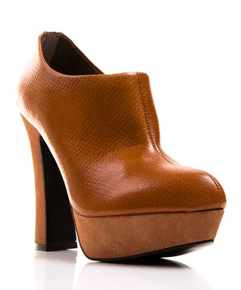 Brown Leather Riva Bootie