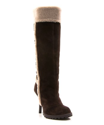 Dark Brown Faux Fur Swiss Vanilla Boot