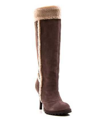 Taupe Faux Fur Swiss Vanilla Boot