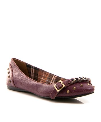Purple Taco Leather Ballet Flat