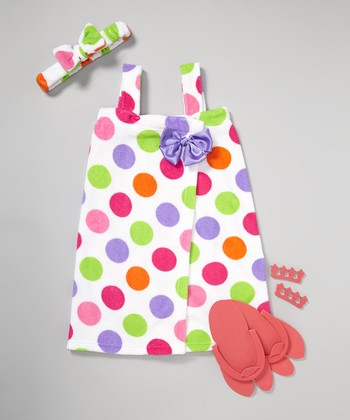 White Polka Dot Spa Set - Girls