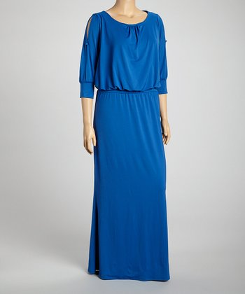 Royal Cutout Maxi Dress - Plus