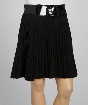 Black Pleated Skirt - Plus