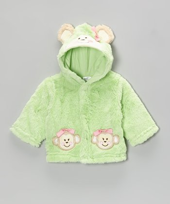Baby Essentials Green Monkey Hooded Jacket - Infant