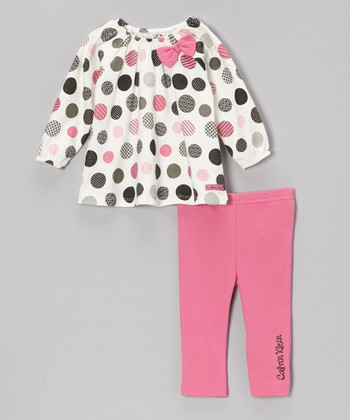 Pink Polka Dot Tunic & Leggings