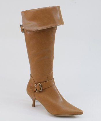 Chestnut Pirate Heel Boot