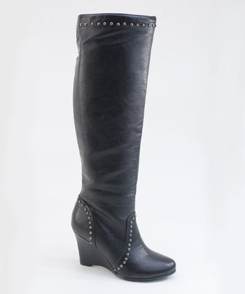 Black Stud Boot