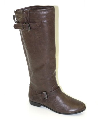 Brown Split Top Boot