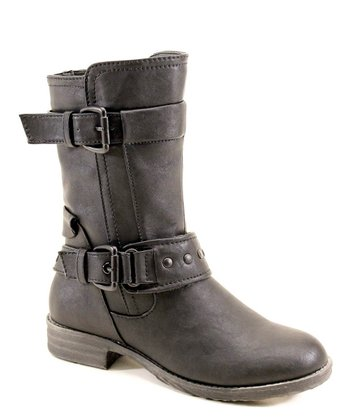Black Layer & Buckle Boot