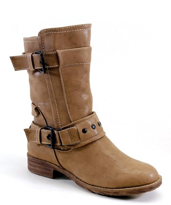 Taupe Layer & Buckle Boot
