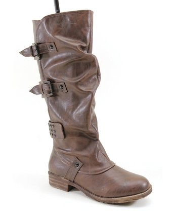 Brown Ruffle Boot