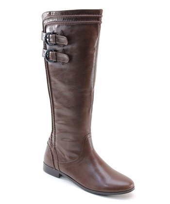 Brown Strapped Riding Boot