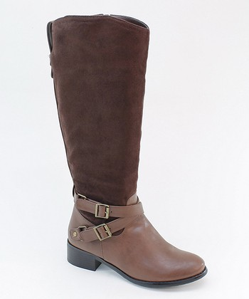 Brown Cross Strap Boot