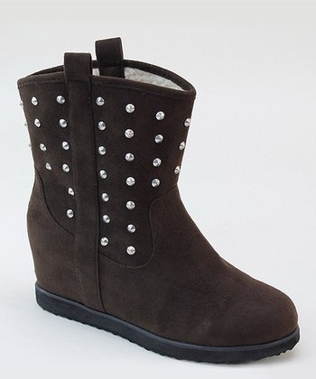 Coffee Pull-On Stud Boot