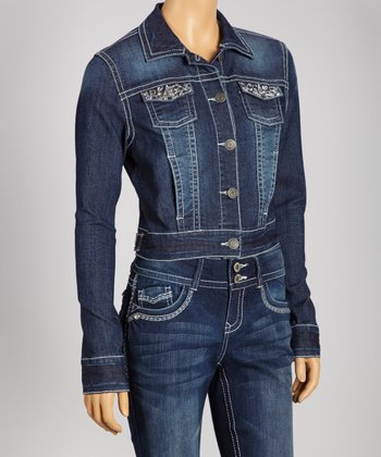 Del Norte Rhinestone Denim Jacket - Women