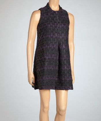 Purple & Gray Villa Shift Dress