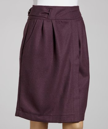 Old Pink Candy Wool-Blend Skirt