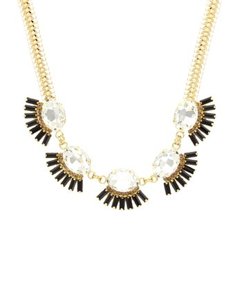 Black & Gold Eyelash Collar Necklace