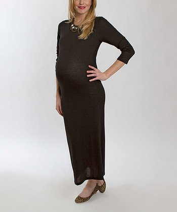Black Genevieve Maternity Maxi Dress
