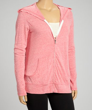 Watermelon Zip-Up Hoodie - Plus