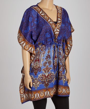Blue Paisley Dolman Tunic - Plus