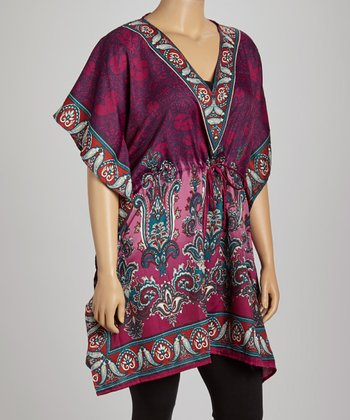 Purple Paisley Dolman Tunic - Plus