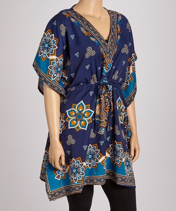 Royal Floral Dolman Tunic - Plus