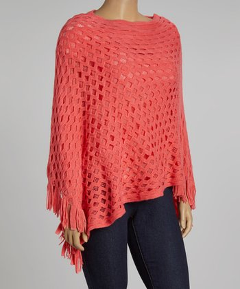 Peach Poncho - Plus