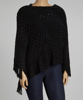 Black Poncho - Plus