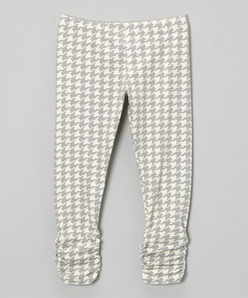 Gray Houndstooth Bea Leggings - Infant, Toddler & Girls