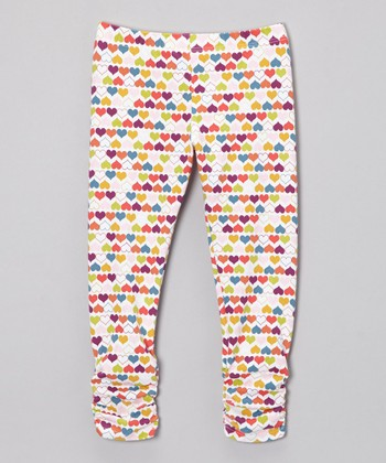 Rainbow Heart Bea Leggings - Infant, Toddler & Girls