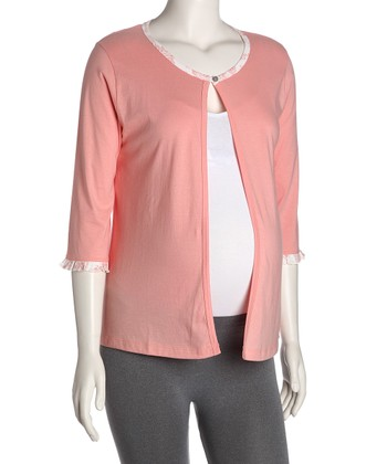 Belabumbum Coral Jayne Maternity & Nursing Open Cardigan