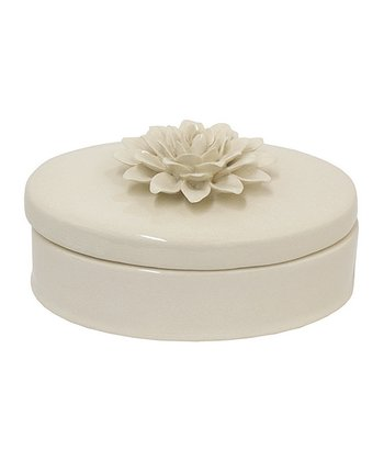 Beige Bloom 4.5'' Jewelry Box