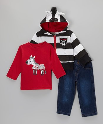 Red Zebra Tee Set - Infant