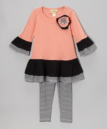 Carnation Guilia Ruffle Dress & Leggings - Toddler & Girls