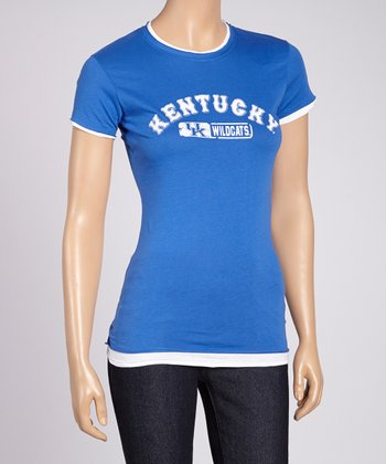 Blue 'Kentucky Wildcats' Tee - Women