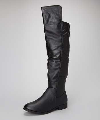 Black Carras Over-the-Knee Boot