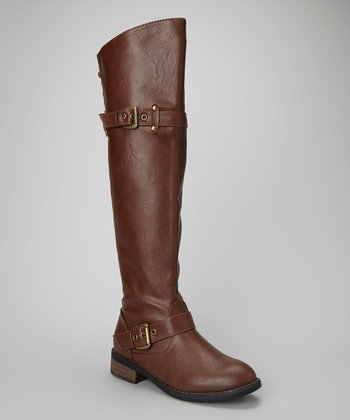 Brown Margery Over-the-Knee Boot