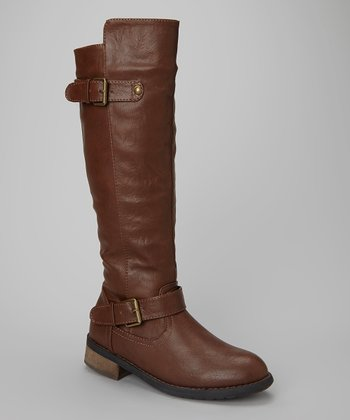 Brown Paulina Over-the-Knee Boot
