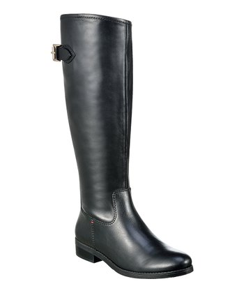 Black Leather Dexter Boot