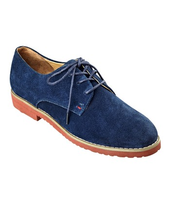 Insignia Blue Suede Honeybee Oxford