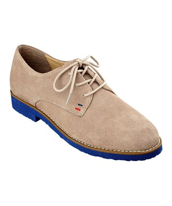 Gray Suede Honeybee Oxford