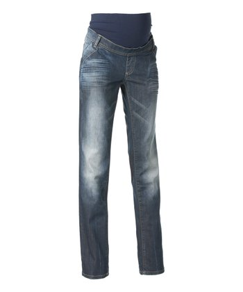 Stone Wash Austin Slim-Fit Maternity Jeans
