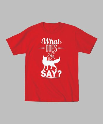 Red 'What Does the Fox Say?' Tee - Toddler & Kids