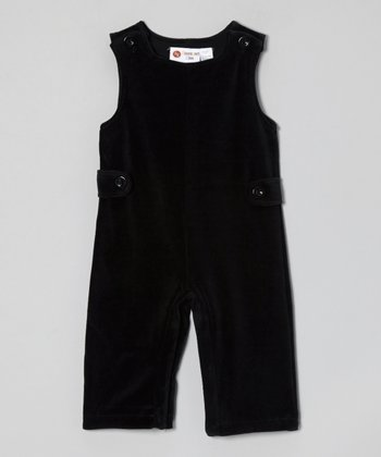 Black Velour Overalls - Infant & Toddler